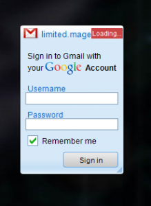 Gmail gadget locked up in Windows 7