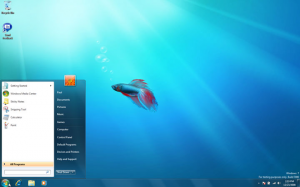 Windows 7 build 7000 desktop