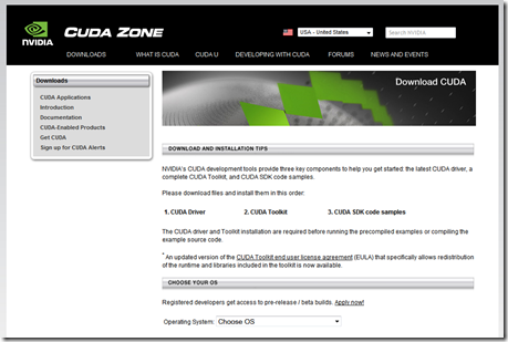 NVIDIA CUDA Download