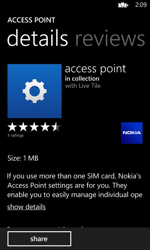 Access Point app in the store